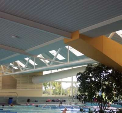 Swimming pool ceilings
